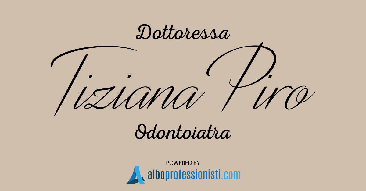 Dott.ssa Odontoiatra Tiziana Piro - Aci Castello