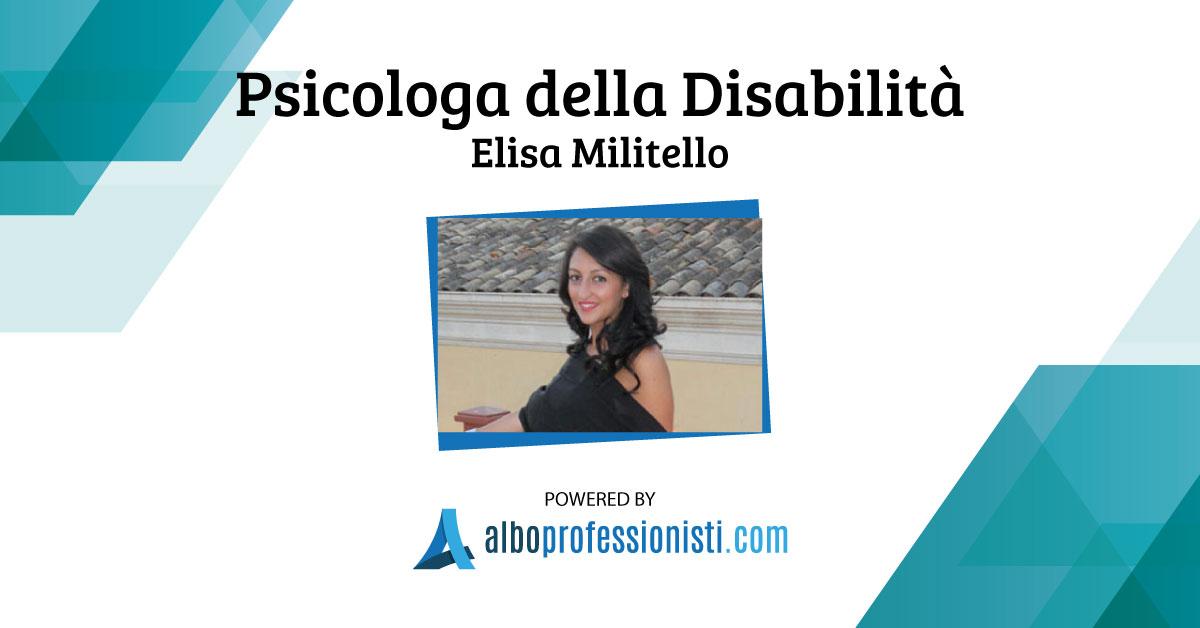 Psicologa della Disabilità Elisa Militello - Agrigento e Palermo